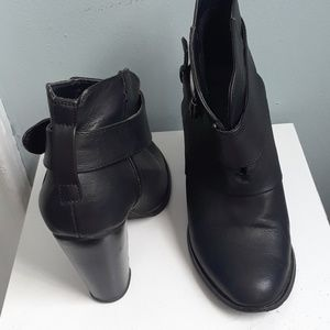 "Black 4"" inch ankle boots"
